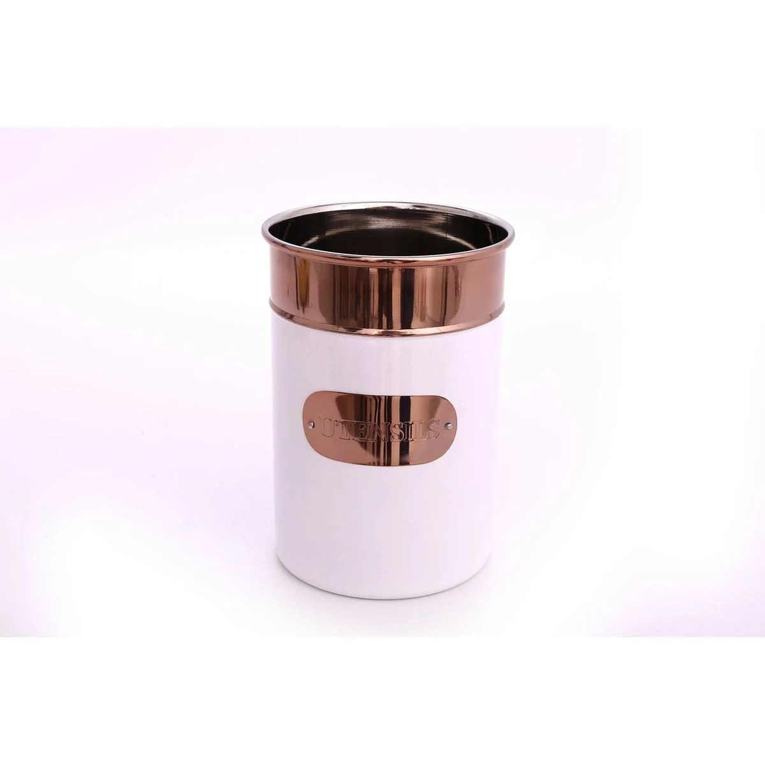 pot a ustensiles design copper