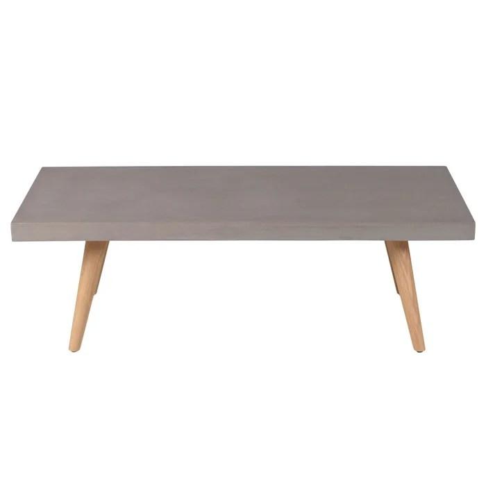table basse rectangulaire 120 cm en beton alva