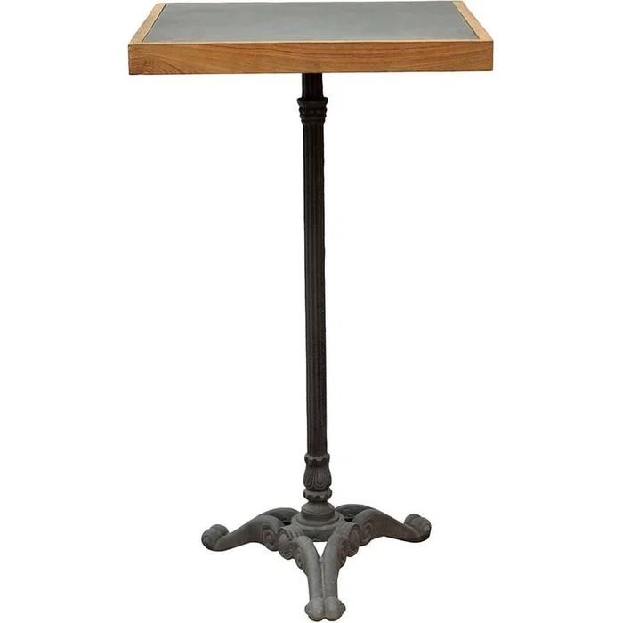 table bistrot haute pieds fantaisies en fer forge