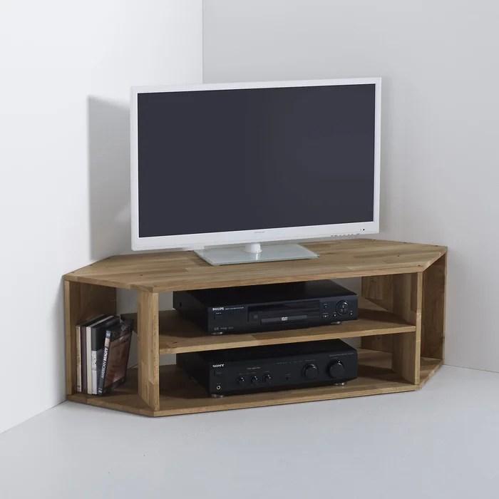 meuble tv d angle chene massif edgar