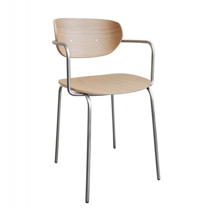 chaise design scandinave bois metal avec accoudoirs