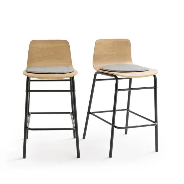 lot de 2 chaises de bar mi hauteur blutante