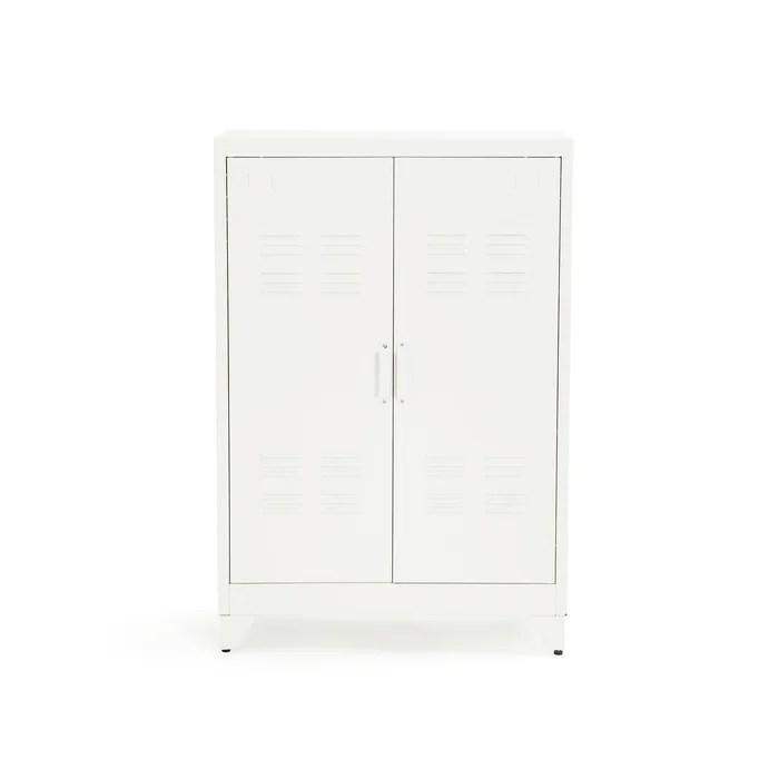 hiba low metal cabinet with two doors