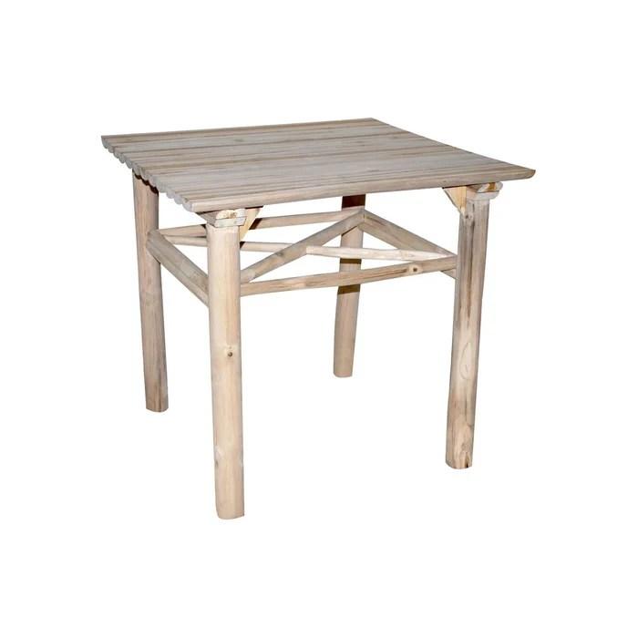 table carree en teck 80 x 80 cm refuge