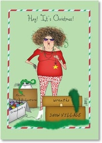 Christmas Card Time To Take Down The Halloween