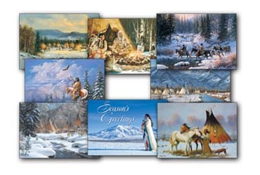 Native American Christmas Card Value Pack Native