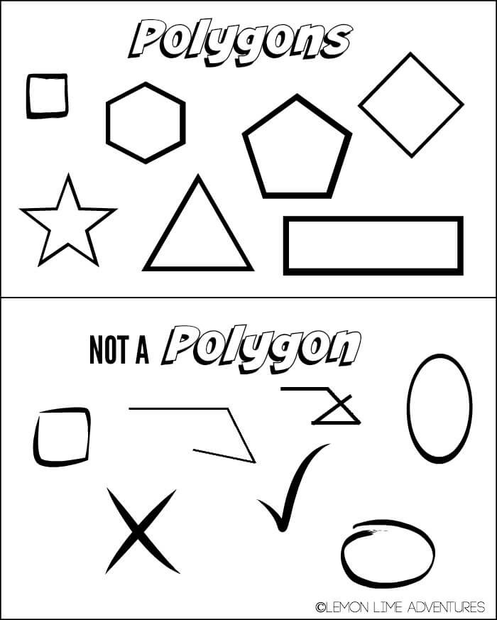Valentines Day Polygon Shapes Building Activity