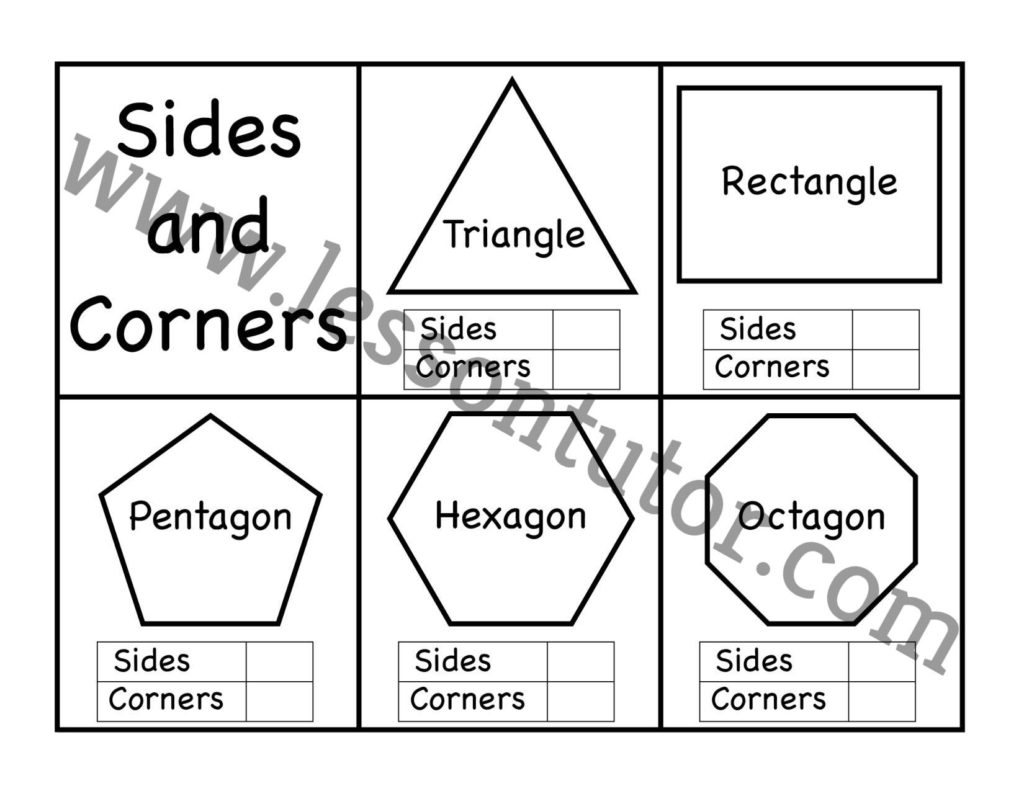 Corners And Sides Polygon Worksheet Kindergarten