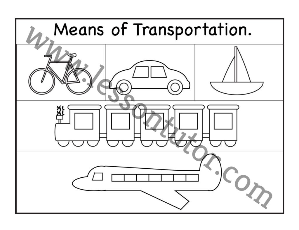 Means Of Transportation Worksheet Kindergarten