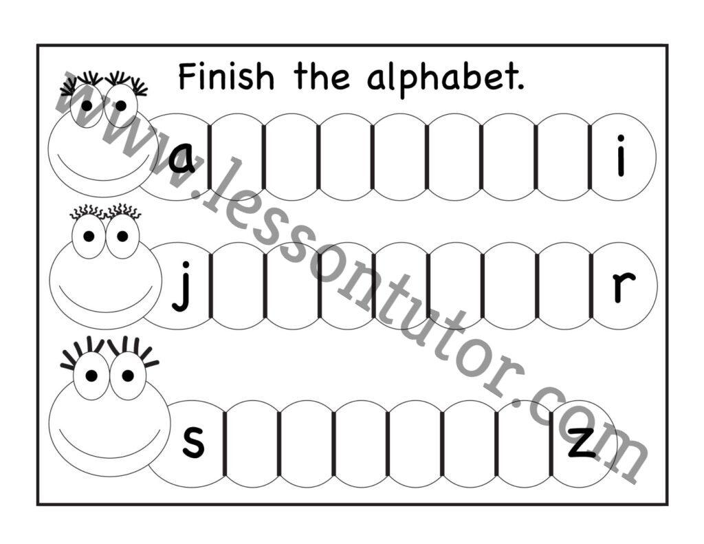 Missing Lowercase Letters Worksheet Kindergarten 9
