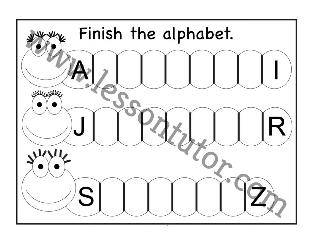 Missing Uppercase Letters Worksheet Kindergarten 7