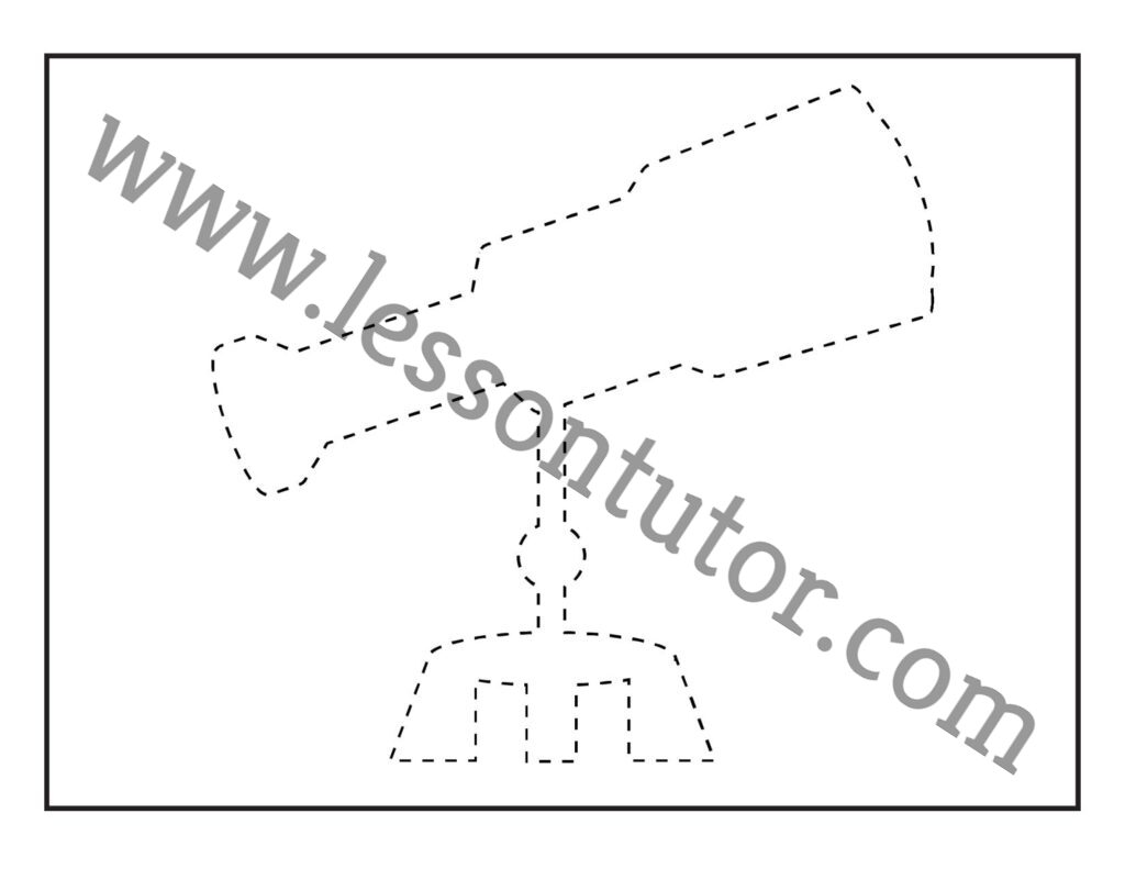 Picture Tracing Telescope 1 Worksheet Preschool