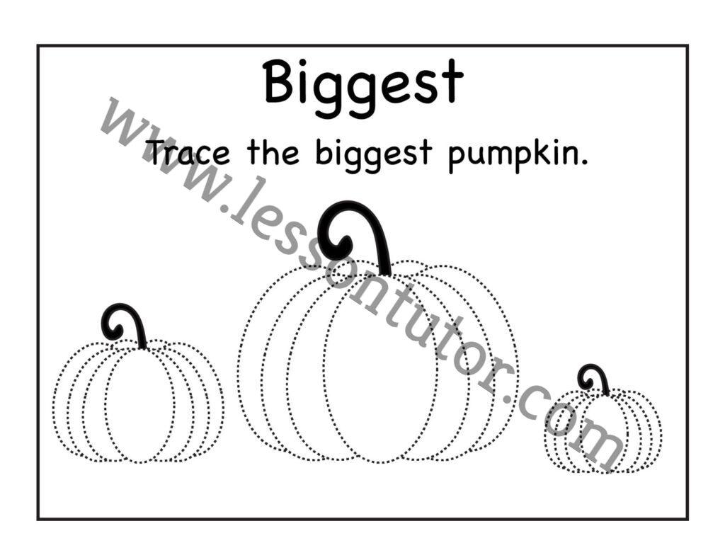 Pumpkin Tracing Worksheet Kindergarten