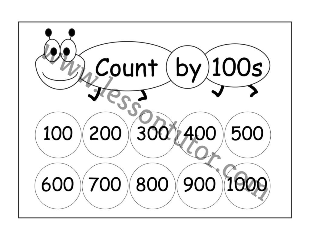 Skip Counting By 100s 3 Worksheets Second Grade