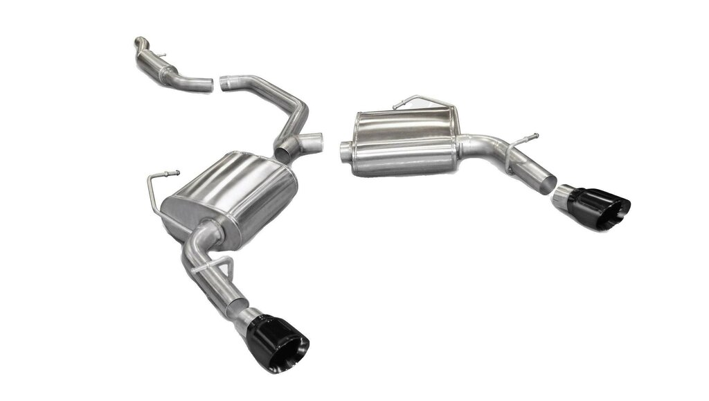 Corsa Blk 2 5 Inch Cat Back Sport Dual Rear Exhaust 4