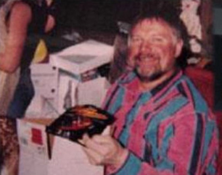 A photograph of a carefree Marvin Heemeyer after he moved to Grand Lake, Colorado.
