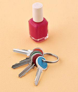Clés de vernis à ongles DIY