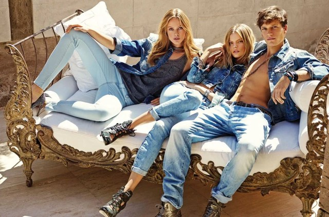 Guy and girls in denim