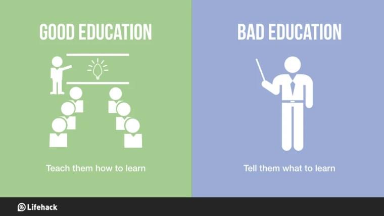 Image result for good vs bad education
