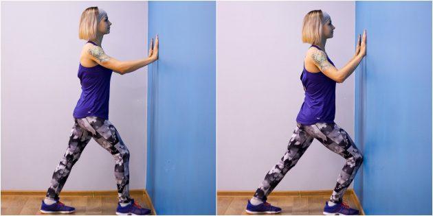 упражнения на гибкость: растяжка мышц голени