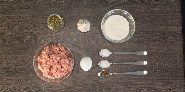 Үйге арналған шұжық Қабықсыз: ингредиенттер