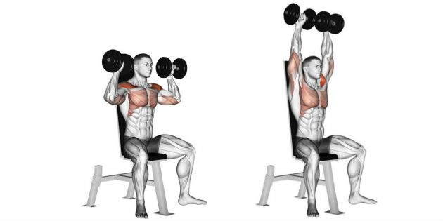Training program at home: dumbbells