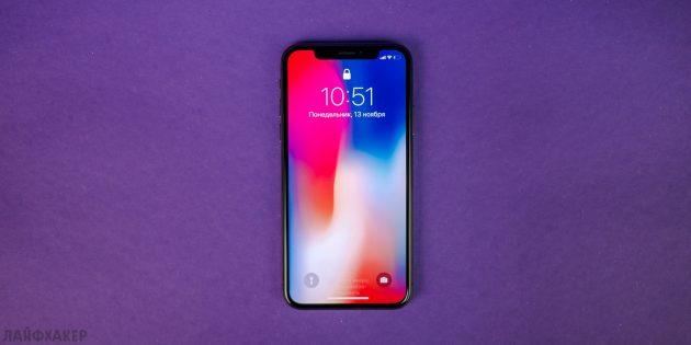 iPhone X: габариты