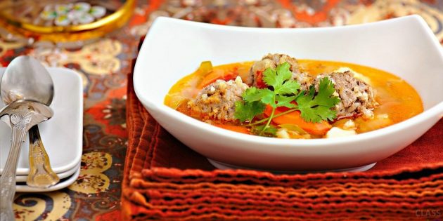 Pickup recipes: pickle with meatballs