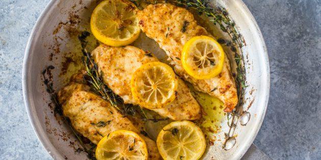 Рецепты с лимонами: Жареные куриные грудки с лимоном