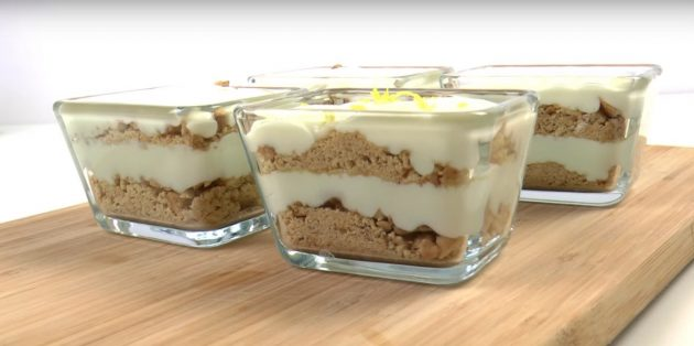 Рецепты с лимонами: Лимонный десерт с печеньем и сгущёнкой