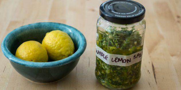 Блюда с лимоном: Лимонный соус сальса верде
