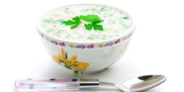 Opskrifter OkroShka: OkroShka med adygei ost