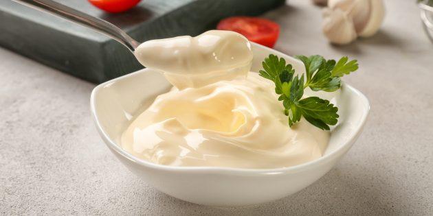 Mayonesa de la receta de la receta sin huevos.