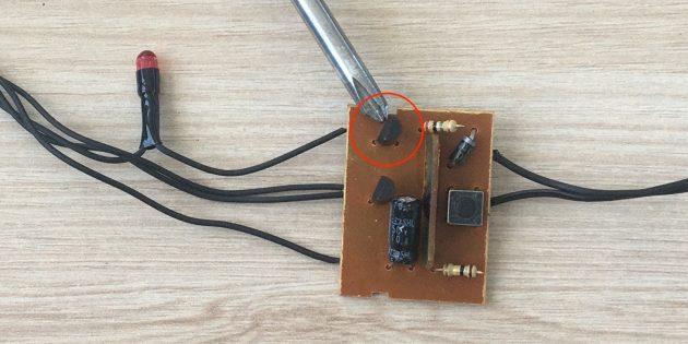 Как починить гирлянду: Сломанный тиристор