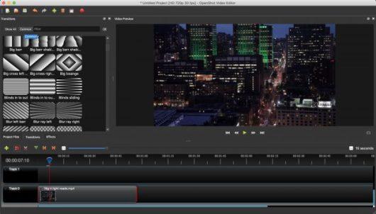 Free Video Editors: OpenShot