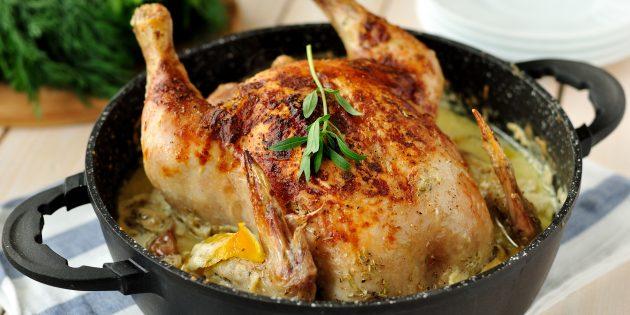 Comment préparer un poulet entier au four
