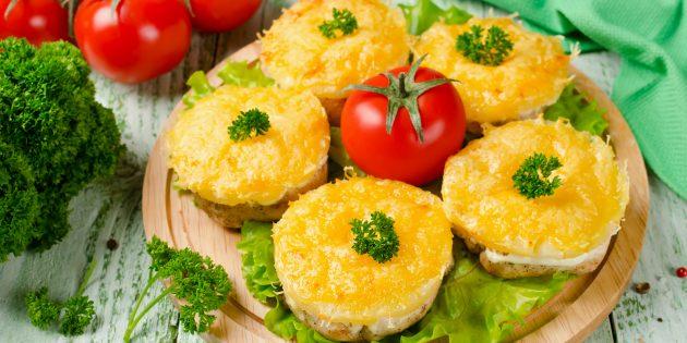 Meilleures recettes Poulet au four: poitrines de poulet avec ananas et fromage