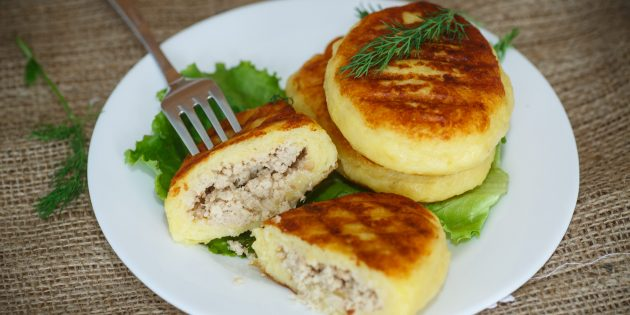 Potato cutlets with minced meat