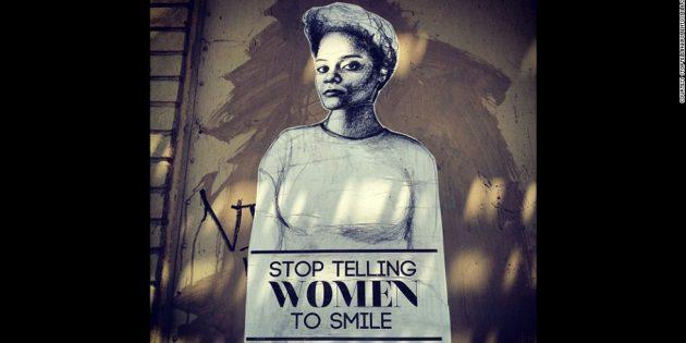 Злое лицо: арт-проект американской художницы Татьяны Фазлализаде Stop telling women to smile