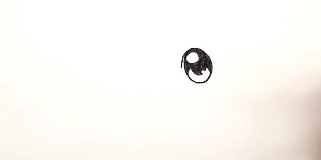 Tegn en oval, efterlader en lille linje øverst til venstre