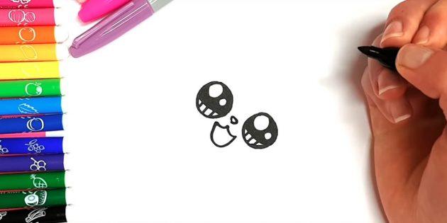 고양이를 그리는 법 애니메이션 : 조금 더 높은 코를 추가하십시오.