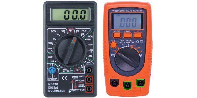 Bagaimana untuk menggunakan multimeter: mengukur voltan bergantian
