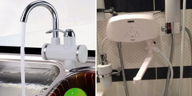 Выберите место установки водонагревателя
