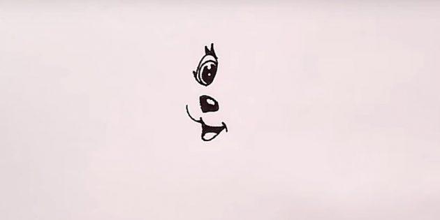 Desenhe o olho e marque a linguagem