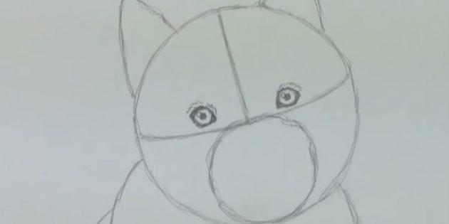 Faça os olhos de um cachorro