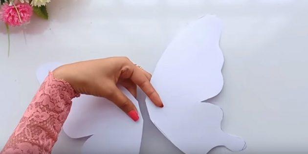 Karte für Ihre Hände: Schneiden Sie die Figur ab