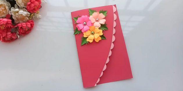 Bleiben Sie an der Spitze der Postkarte Blumen und Blätter