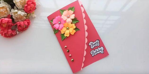 So machen Sie Karten mit Blumen für Ihre Hände