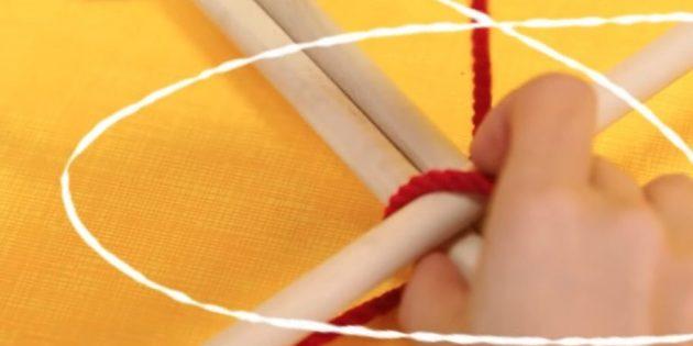 Envolva a corda de ancinho