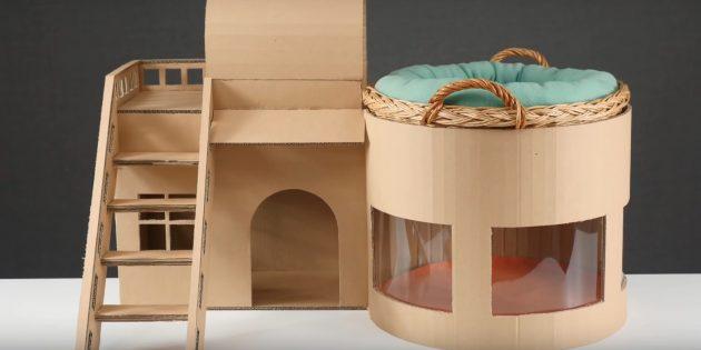 Hus til katten gør det selv: Stik trappen, luk sømmen og indsæt vinduerne
